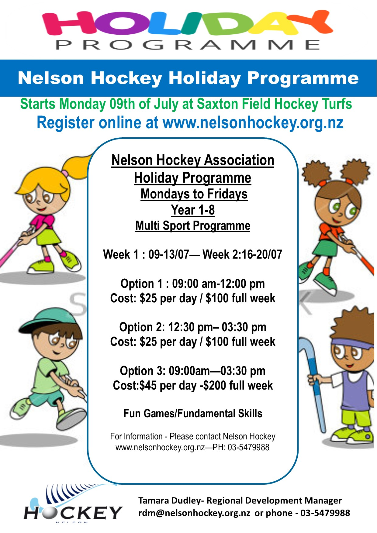 HOLIDAY PROGRAMME-REGISTRATIONS OPEN!