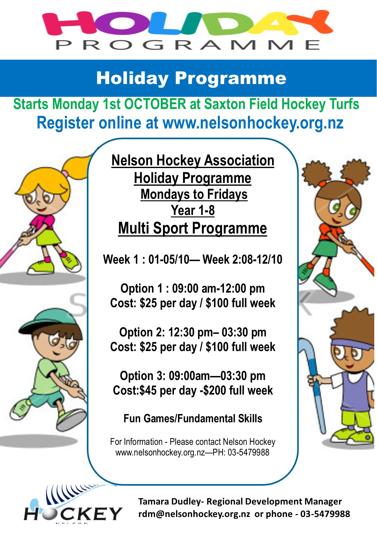 2018 NHA HOLIDAY PROGRAMME II REGISTRATIONS OPEN!!! NHA will