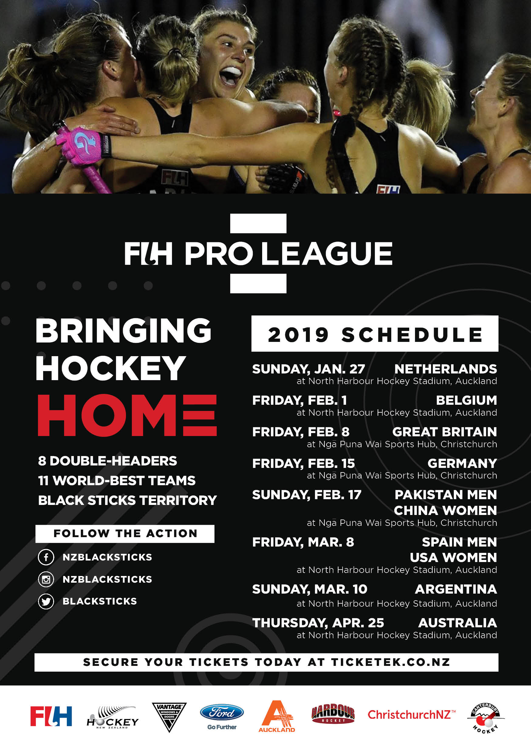 FIH Pro League - Bringing Hockey Home - Nelson Hockey Association