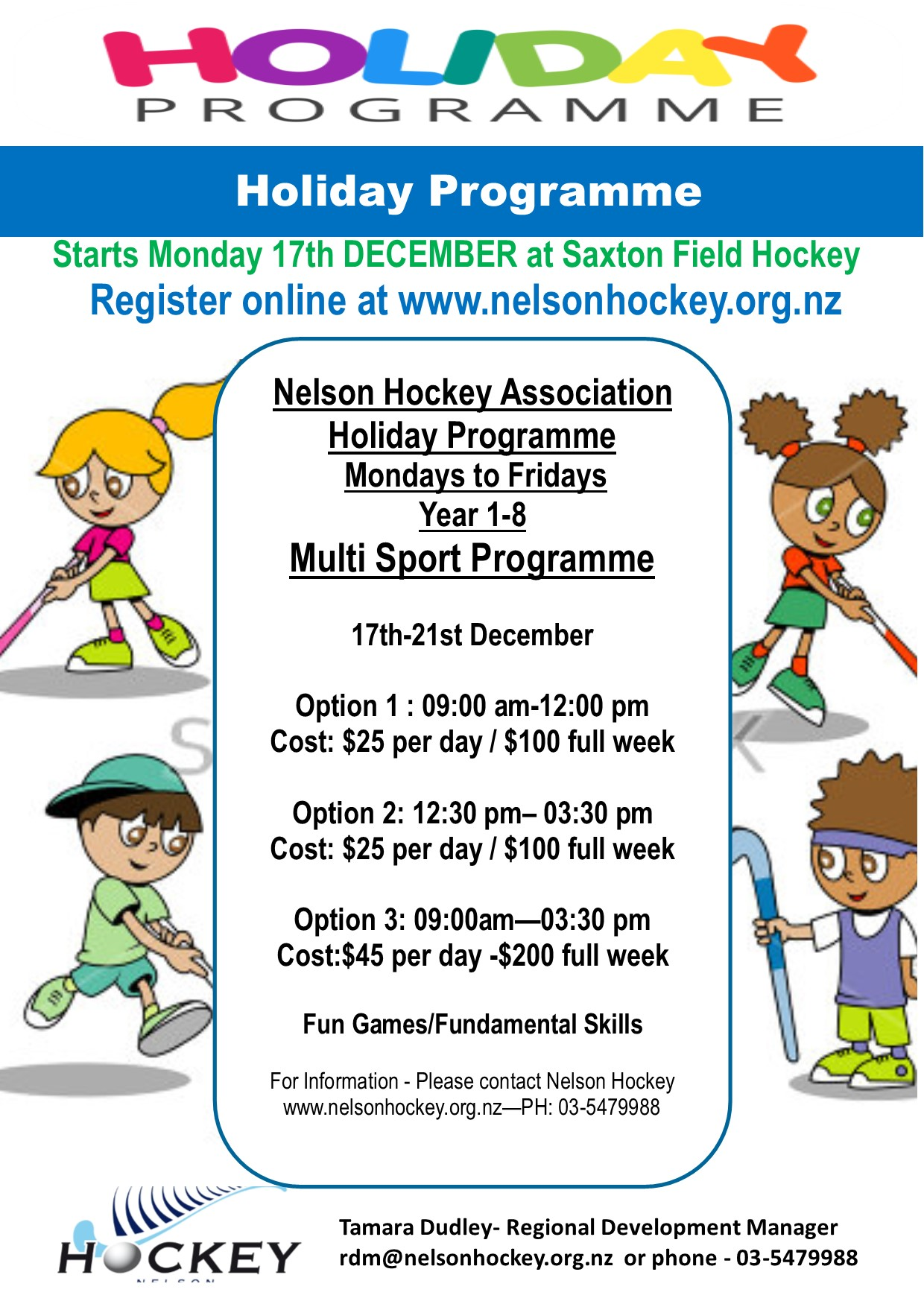2018 NHA HOLIDAY PROGRAMME III REGISTRATIONS OPEN!!!- December 17th-21st