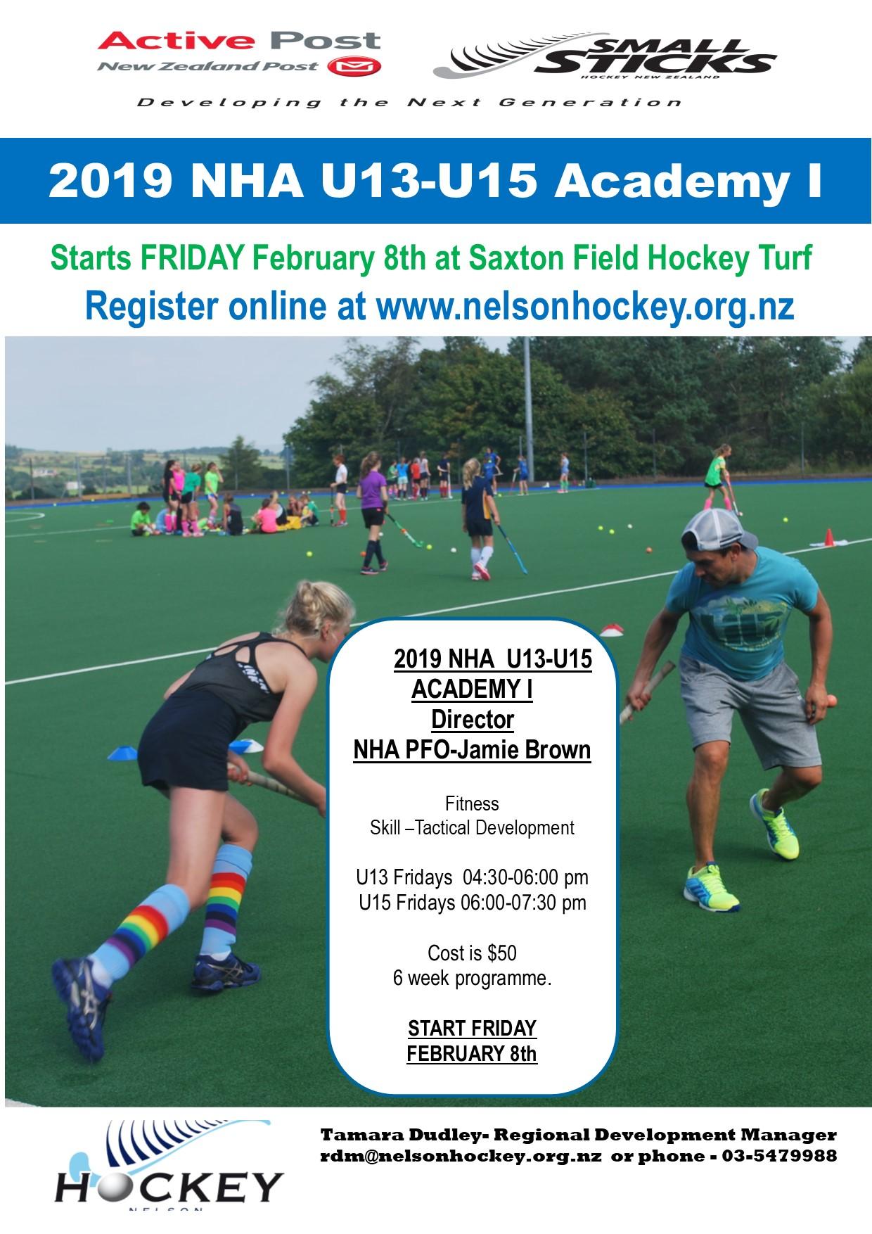 Nha Academy I Development Programme Nelson Hockey Association