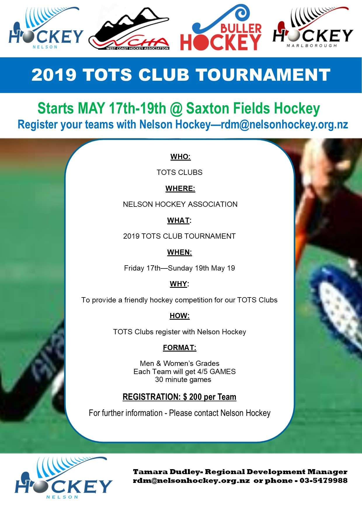 2019 Tots Tournament May 17th 18th 19th Nelson Hockey Association