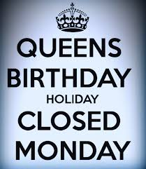 NHA CLOSE-(QUEENS BIRTHDAY HOLIDAY-MONDAY JUNE 1st)