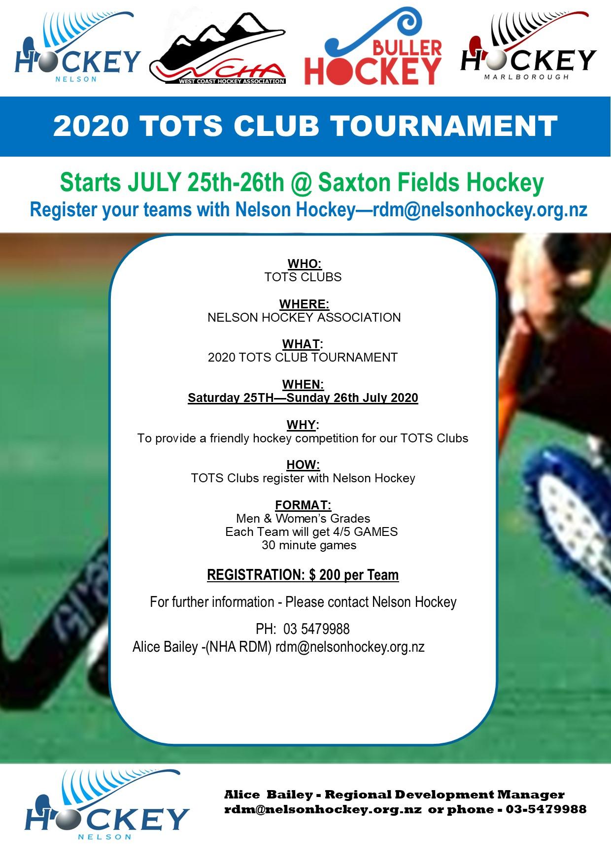 2020 TOTS CLUB HOCKEY TOURNAMENT-JULY 25th & 26th-Registrations Open!!!