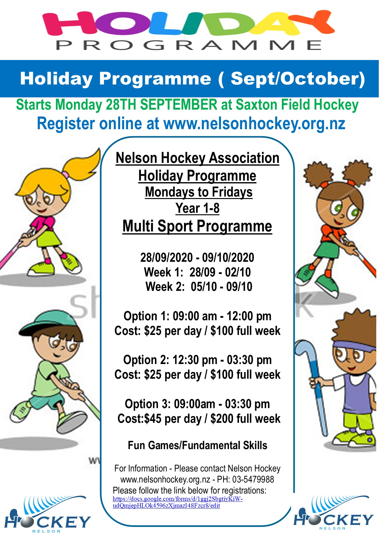 2020 NHA HOLIDAY PROGRAMME-Starts Monday September 28th!Registrations Open!!!