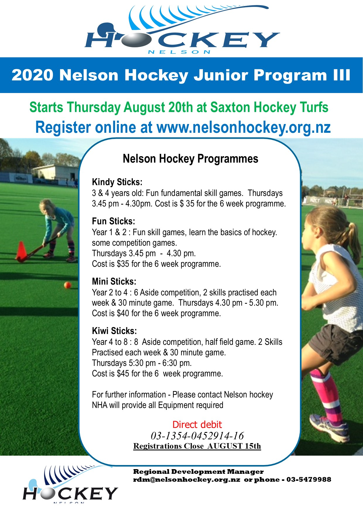 2020 NHA JUNIOR PROGRAMME III-Starts Thursday August 20th!-Registrations Open!